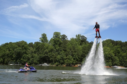 30-Minute Flyboarding Session with GoPro Video Package for One or Two at Lake Lanier Flyboard (Up to 45% Off)