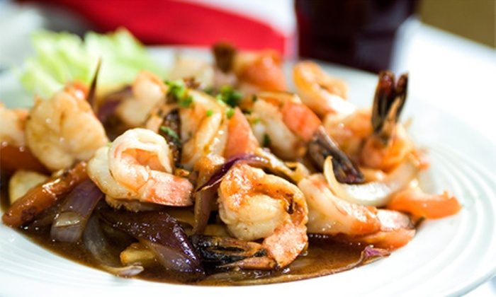 Scampi - Midtown: Italian Dinner with Wine for Two for Four at Scampi Pasta House & Bar (Up to 56% Off)