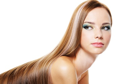 One Express or Regular Keratin Treatment at Flower Studio at Luigi's (Up to 64% Off)