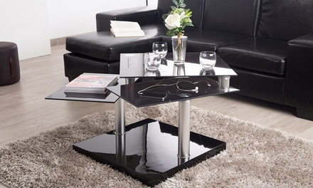 groupon table basse plateaux pivotants mod le et. Black Bedroom Furniture Sets. Home Design Ideas