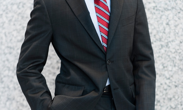 Just White Shirts - Multiple Locations: Custom Egyptian-Cotton Dress Shirt or a Custom Wool Suit at Just White Shirts (Up to 46% Off)