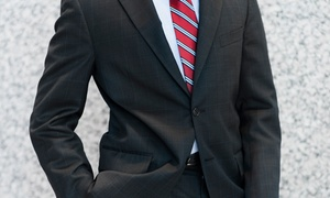 Just White Shirts: Custom Egyptian-Cotton Dress Shirt or a Custom Wool Suit at Just White Shirts (Up to 46% Off)