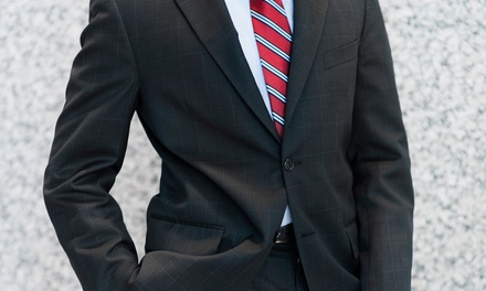 Custom Egyptian-Cotton Dress Shirt or a Custom Wool Suit at Just White Shirts (Up to 46% Off)
