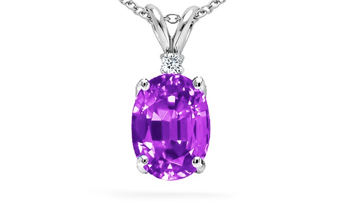 Diamond and amethyst pendant groupon goods diamond and amethyst pendant diamond and amethyst pendant mozeypictures Images