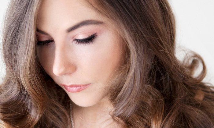 Salon Greco - Suwanee: $79 for a Hair Luminescence Treatment, Airbrush Makeup, and Thermal Style at Salon Greco ($170 Value)