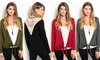 Women's Tie-Front Cardigan with Lace Back: Women's Tie-Front Cardigan with Lace Back