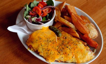 image for Chicken or Pork Parmo With Drink For Two from £9 at TS:One Middlesbrough (Up to 53% Off)