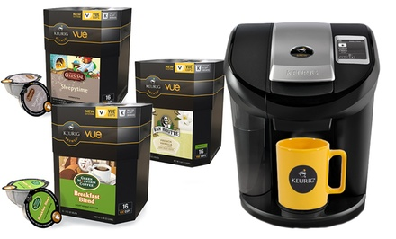 Keurig Vue V600 Brewing System Bundle with 58 Assorted V-Cups. Free Returns.