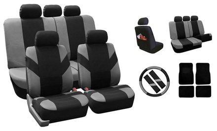 Auto Combo Cover Kits – Seat Covers, Floor Mats, Steering Wheel Cover, and Seatbelt Covers