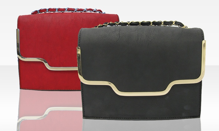Faux-Leather Cross-Body Handbags: Faux-Leather Cross-Body Handbag in Black or Red. Free Shipping and Returns.
