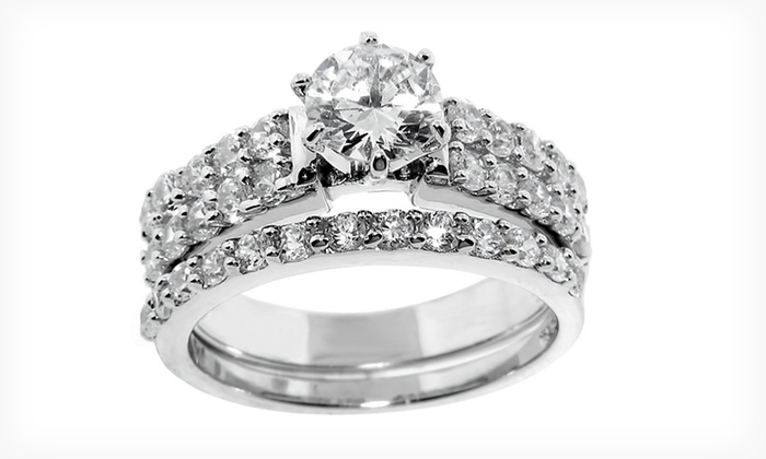 Sterling Silver Wedding Rings Groupon Goods