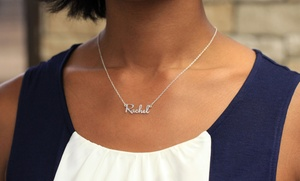 Personalized Mini Name Necklace In Sterling Silver From Monogramonline.com. Multiple Options Available From $20–$24.