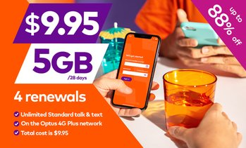 4x Amaysim Unlimited 5GB/28 days