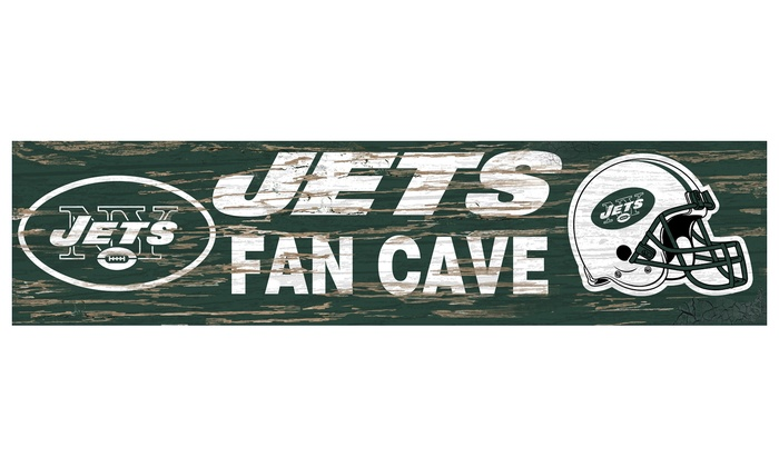 "New York Jets 24"" Distressed Fan Cave Sign: New York Jets 24"" Distressed Fan Cave Sign"