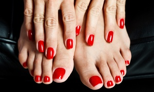 Silver Palace Ladies Salon: Manicure and Pedicure, Cut, Wash and Blow-Dry or Colour with Hair Styling at Silver Palace Ladies Salon (Up to 60% Off)