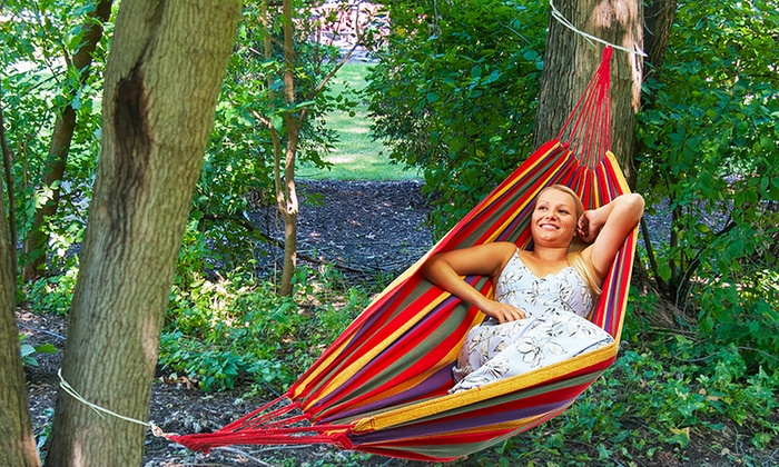 equipped outdoors portable two person camping hammock  equipped outdoors portable two person camping     portable two person hammock   groupon goods  rh   groupon