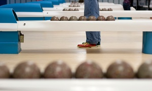 Glen Burnie Bowling Center: Four or Eight Games of Duckpin Bowling for Four with Shoe Rentals and Pizza at Glen Burnie Bowling (61% Off)