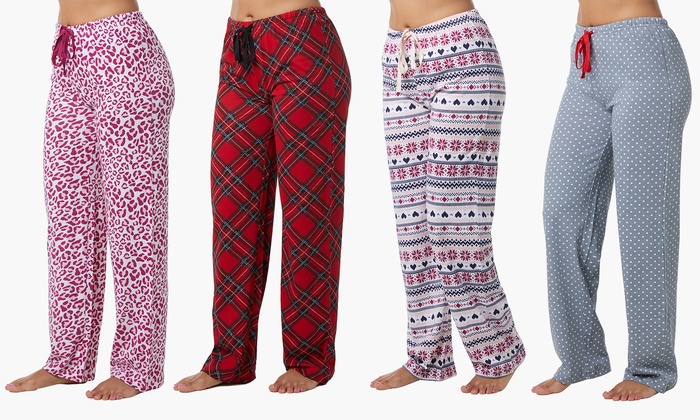 60f7ec2bfdb7 Up To 77% Off on Women s Pajama Pants (4-Pack)