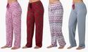 4-Pack Women's 100% Cotton-Knit Pajama Pants