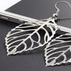 18K White Gold-Plated Leaf Earrings