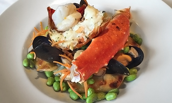 Nautical Nellies Restaurant - Victoria: 18th-Anniversary Four-Course Seafood Dinner for Two or Four at Nautical Nellies Restaurant (54% Off)