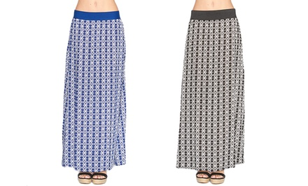 Women's Diamond Lattice Maxi Skirt