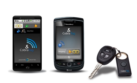 Cobra Tag 2-Way Separation Alarm for BlackBerry and Android. Free Returns.