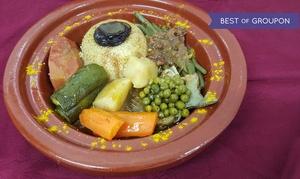 Restaurant Le Jasmin: Délices marocains avec entrée, plat et dessert pour 2 personnes à 29,90 € au restaurant Le Jasmin