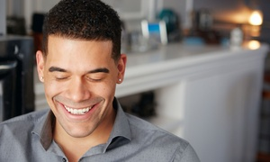 Vizion Hair Studio: $15 for Men's Haircut with Shave, Eyebrow Shaping, and Hot Towels at Vizion Hair Studio ($35 Value)