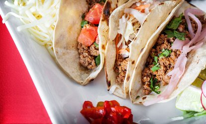 image for Four Vouchers, Each Good for an All-You-Can-Eat Taco Lunch at Mezcal Cantina (Up to 55% Off)