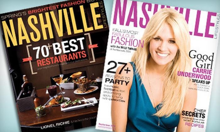 "Nashville Lifestyles - Nashville: One- or Two-Year Subscription to ""Nashville Lifestyles"" Magazine (Up to Half Off)"