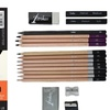 Canson Sketchbook and Professional Artist Pencil Set (18-Piece)