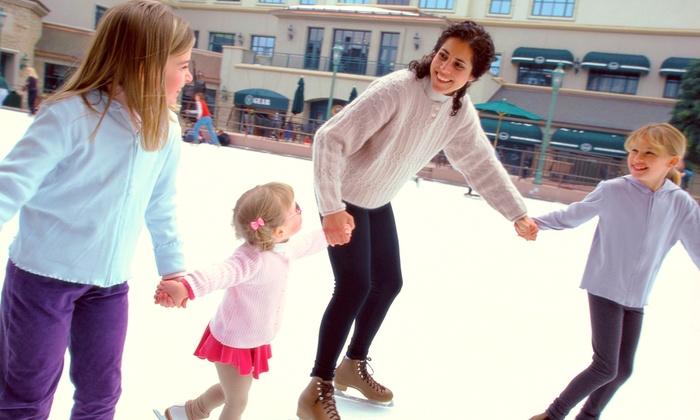 Brenton Skating Plaza - East Village: Ice Skating with Skate Rentals, Family Season Passes, or Skate Classes at Brenton Skating Plaza (Up to 54% Off)