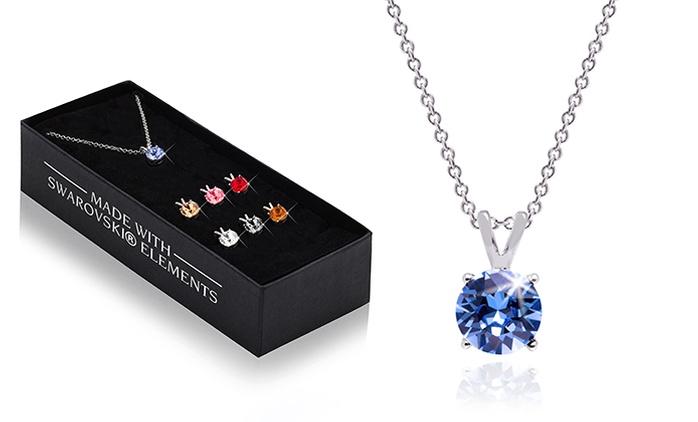 Halsketten-Set mit 7 Wechsel-Anhängern, verziert mit KristallenvonSwarovski®