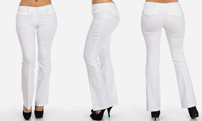 Women&-39-s Bootcut Stretch Dress Pants - Groupon