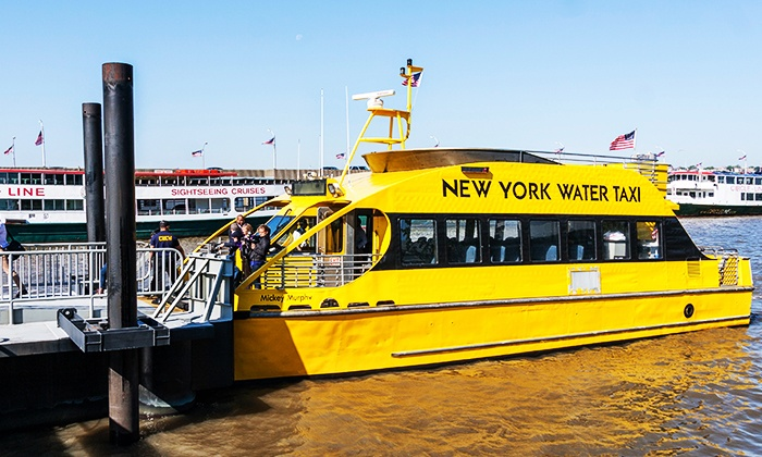 New York Water Taxi - South Street Seaport: One Week or One Month of Westside-Ferry Rides from New York Water Taxi (40% Off)