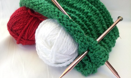 Holiday Learn-to-Knit Class with Needles and Scarf for One or Two at Busy Beaver Arts & Crafts (Up to 46% Off)
