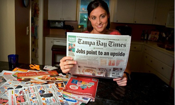 """""""Tampa Bay Times"""" - Tampa Bay Area: $10 for a One-Year Sunday Subscription to the """"Tampa Bay Times"""" ($62.40  Value)"""