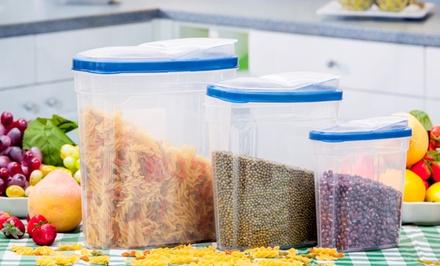 3-Piece Plastic Kitchen-Container Set. Free Returns.