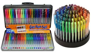 Comfort-Grip Gel Pens with Tin Storage Case or Rotating Display Stand