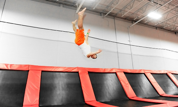 Rockin Jump - Carol Stream - Rockin' Jump: One-Hour Jump Passes for Two, Four, or Six at Rockin' Jump (Up to 50% Off)