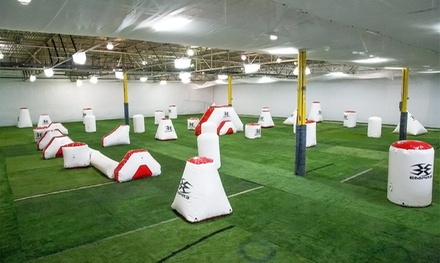 Low-Impact Open-Play Indoor Paintball Package for Two, Four, or Eight at CPX Sports (Up to 74% Off)