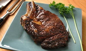 The Silver Flame Steakhouse: Prime Rib or Bone-In Rib Eye for Two or Four at The Silver Flame Steakhouse (53%)
