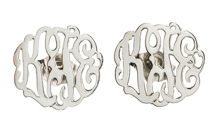 $39.99 for Personalized Sterling Silver Monogrammed Earrings from Luce Mia ($118 Value)