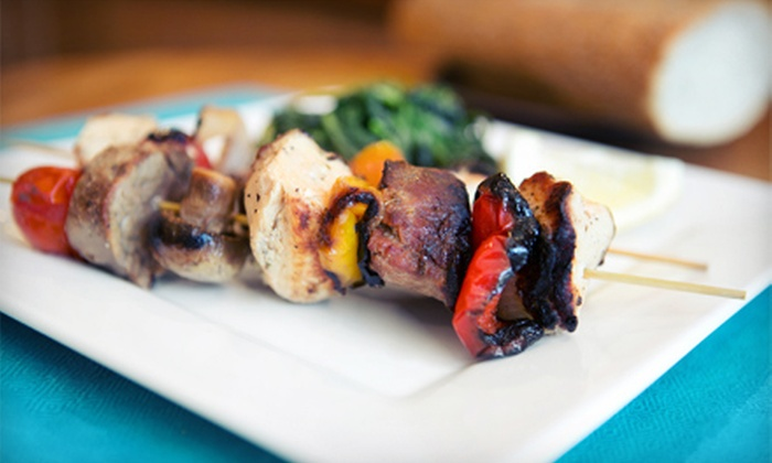 Arabica Mediterranean Cuisine - South Berkeley: Mediterranean Dinner Food for Two or Four at Arabica Mediterranean Cuisine (Half Off)