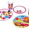 Disney's Minnie Mouse or Cars Melamine Dinnerware Set
