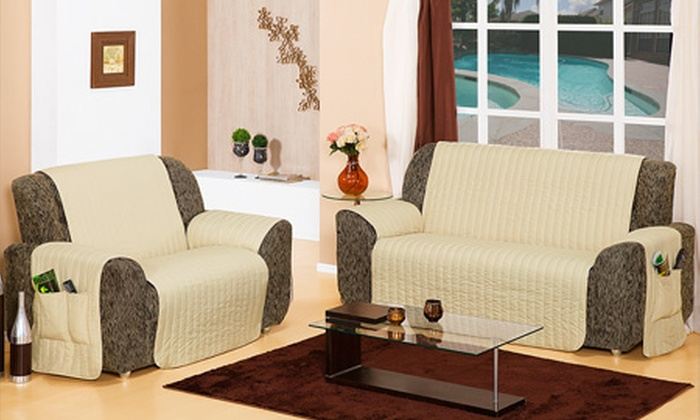 Paulo Cezar Enxovais: Protetor de sofá matelado, para 2 e 3 lugares, por R$ 99,90 + frete grátis