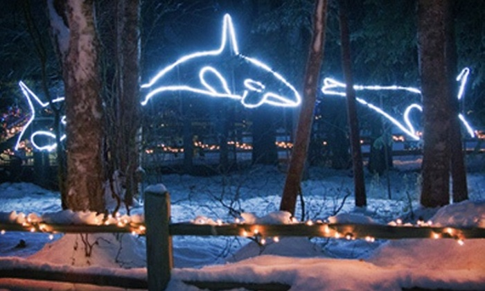 The Alaska Zoo - Huffman / O' Malley: $14 for a Zoo Lights Holiday Display for Four at The Alaska Zoo – O' Malley Rd ($28  Value)