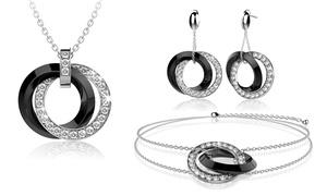 (Bijou)  Bijoux en céramique orné de cristaux Swarovski® de la marque Lycio -66% réduction