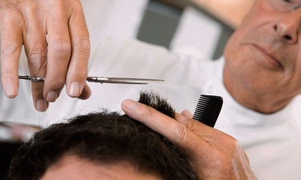 Men's Cut with Optional Wash and Razor Finish from at Salem's Elite Hair Salon & Spa (Up to 50% Off)